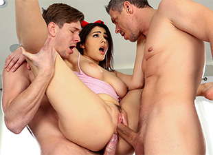 Stuffing All of Her Holes